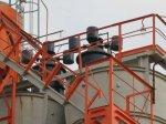 перекачка цемента со склада в БСУ